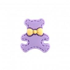 Bear with a purple bow