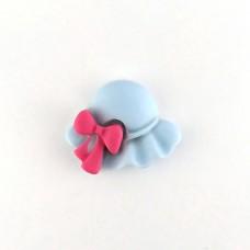 Panama blue with raspberry bow