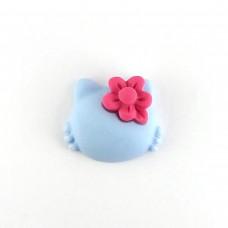 Hello Kitty blue with raspberry flower