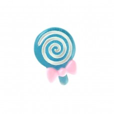 Rattle mini blue with a bow