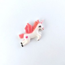 White unicorn with a pink mane and tail
