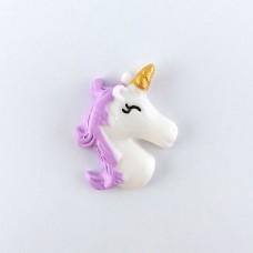 Head of a Unicorn with a Lilac Mane