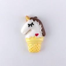 Unicorn Ice Cream in a Glass Chocolate Mane
