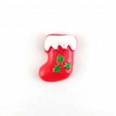 New Year's sock with Mistletoe
