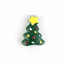 Herringbone dark green dressed up with a yellow star