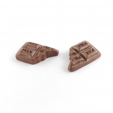 Bitten chocolate with the inscription MILK