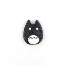 Totoro blackish with a white tummy