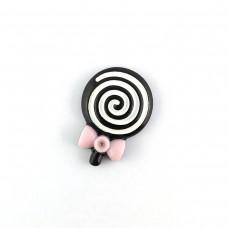 Chocolate spiral on a stick