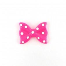 Bow raspberry polka dots