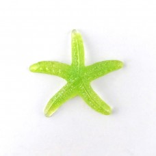 Starfish green with sparkles