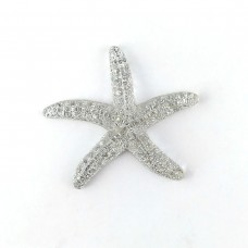 Starfish silver with sparkles