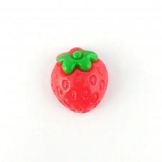 Strawberry with a leaf