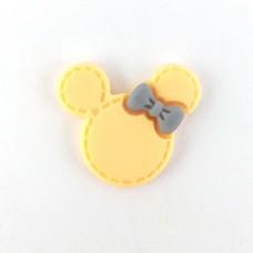 Mickey's head is big yellow