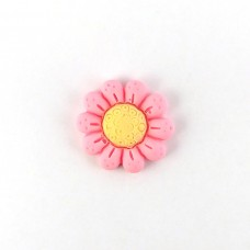 Pink flower with a yellow center