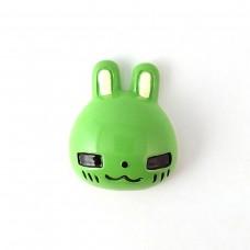 Head of a green bunny