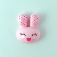 Pink shy bunny head