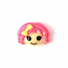 Girl's head with raspberry curls