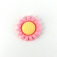 Flower pink with a yellow center
