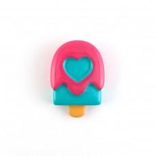 Raspberry Ice Cream with a Heart