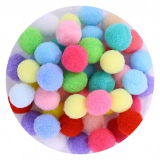 Pompons Multicolored large