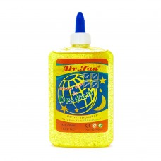 Dr. Fan glue 250 ml yellow with glitter